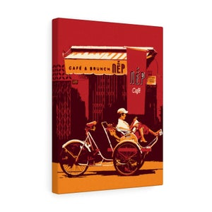 Image of Vietnam Trishaw Nap Time Cafe and Brunch Canvas Gallery Wraps 12x16 inches