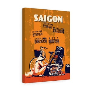 "Image of Vintage poster Vietnam Saigon grafiti - Canvas Gallery Wraps 12""x16"""