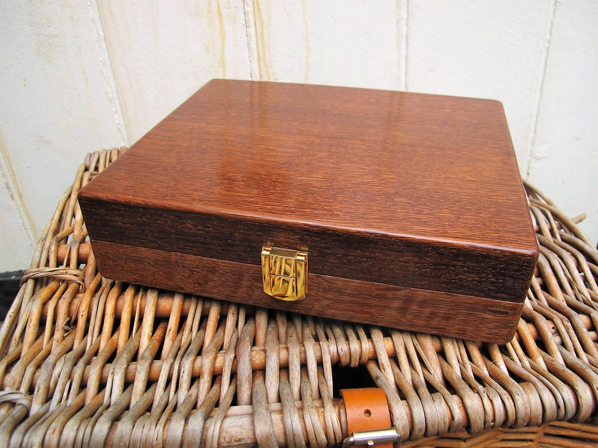 Image of Handmade Oak float box