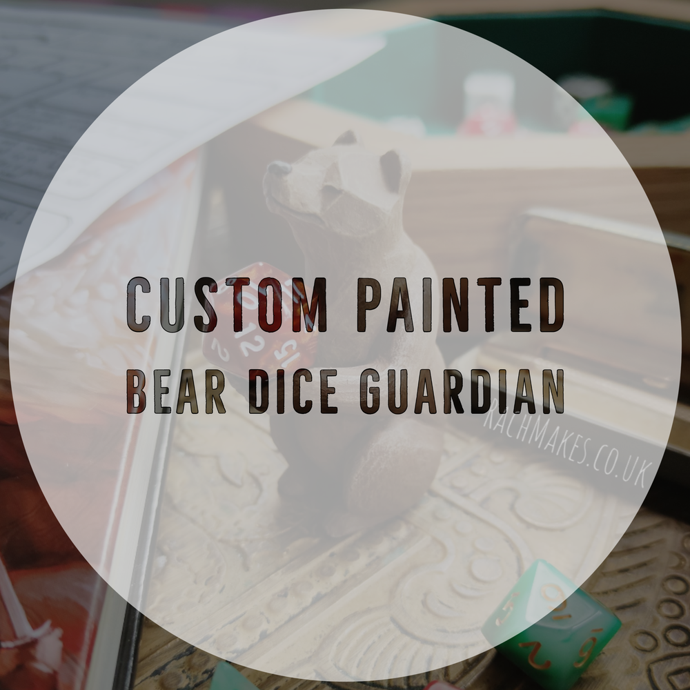 Image of Custom painted Bear/Wolf Dice Guardian