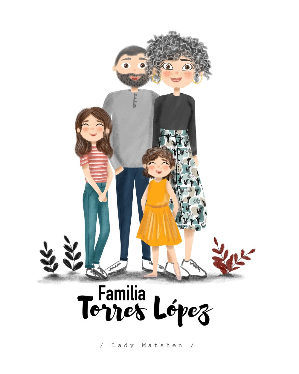 Image of Familia ilustrada infantil / FORMATO DIGITAL