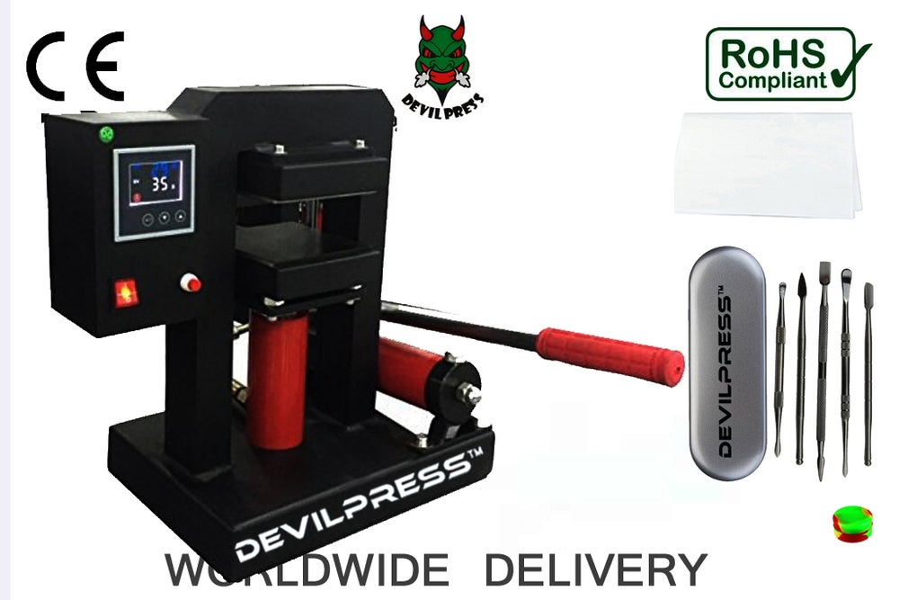 Image of S15 Devil Press™  Hydraulic 10 ton Dual Heating Plates Rosin Press Wax Extractor