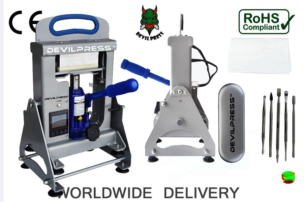 Image of DEVIL PRESS™ DS400 6CM X 12CM (7TON ) MANUAL ROSIN PRESS MACHINE