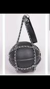 Image of Black basketball purse