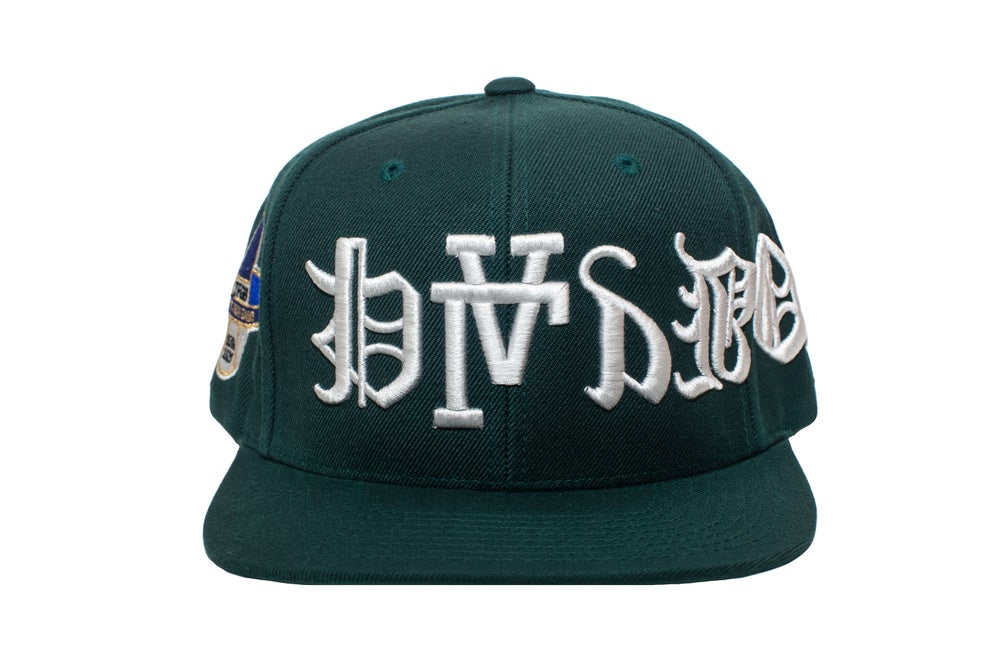 Image of Grn Upside Down Playboy SnapBack