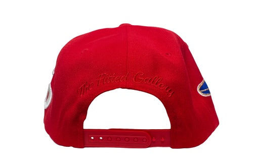 Image of Red Upside Down Playboy SnapBack