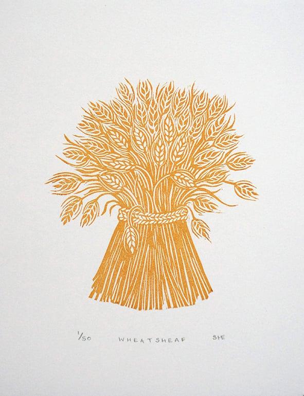 Image of Wheatsheaf - Linocut