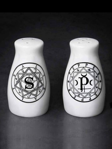 Image of ALCHEMY GOTHIC S & P: Salt and Pepper Set
