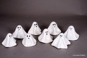Image of Mini Ghosts, Handmade Ceramic Ghost Figures for Home Decor