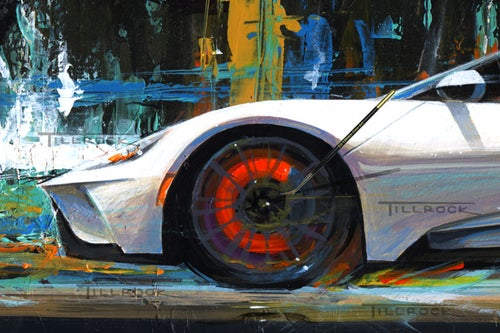 "Image of ""Future Shock"" 2017 Ford GT Painting (16""x22"") or (20"" x 28"")  Signed & Numbered Giclee' Prints"