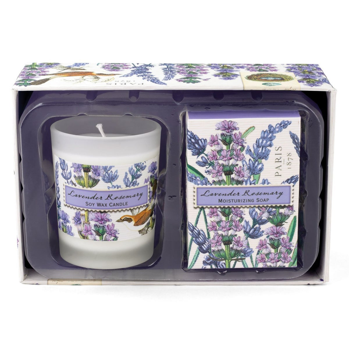 Image of Michel Design Works Lavender Rosemary Candle and Soap Gift Set