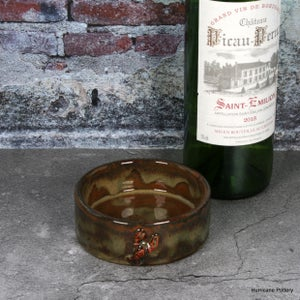 Image of Stoneware Wine Coaster with Crawfish Detail