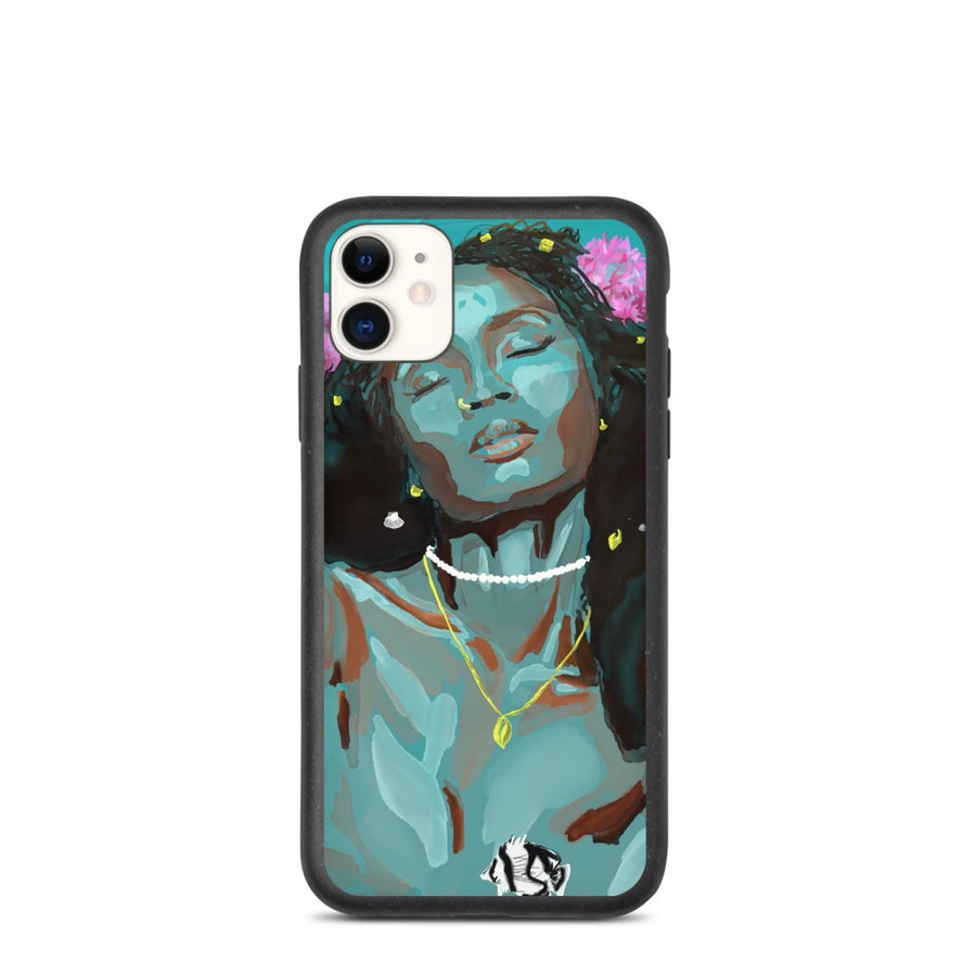 Image of Biodegradable Mermaid of the Pond iPhone Case
