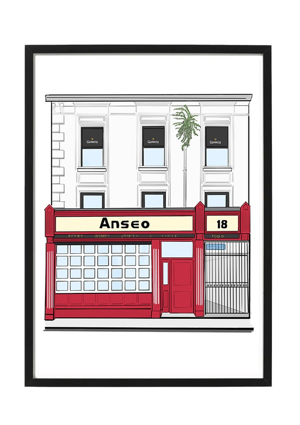 Image of Anseo A4 Framed