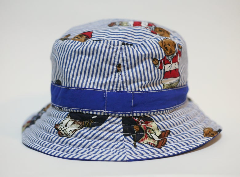 Image of Teddy Bear/Royal Blue Bucket Hat