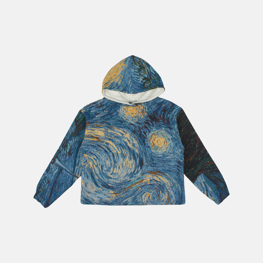 Image of LAUREL WAY STARRY NIGHT WOVEN HOODIE
