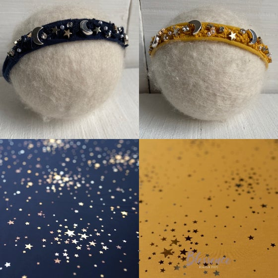 Image of Starry night on jersey Navy, mustard or black