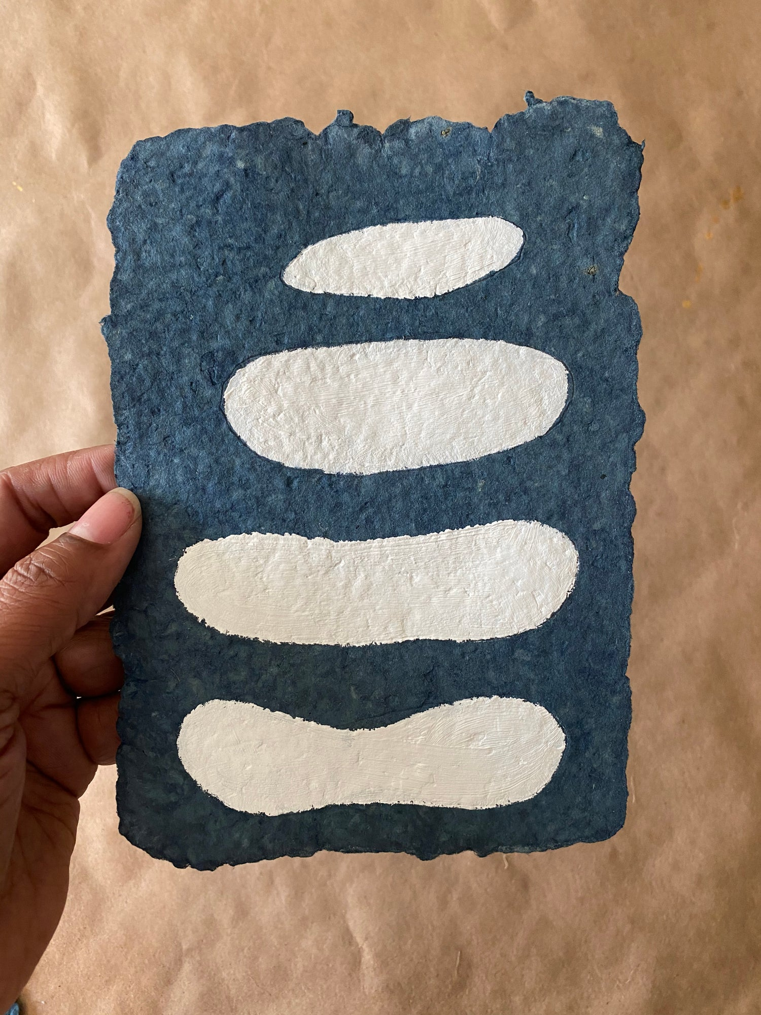 Image of ML • The Shape Collection • Indigo Handmade Paper no. 2