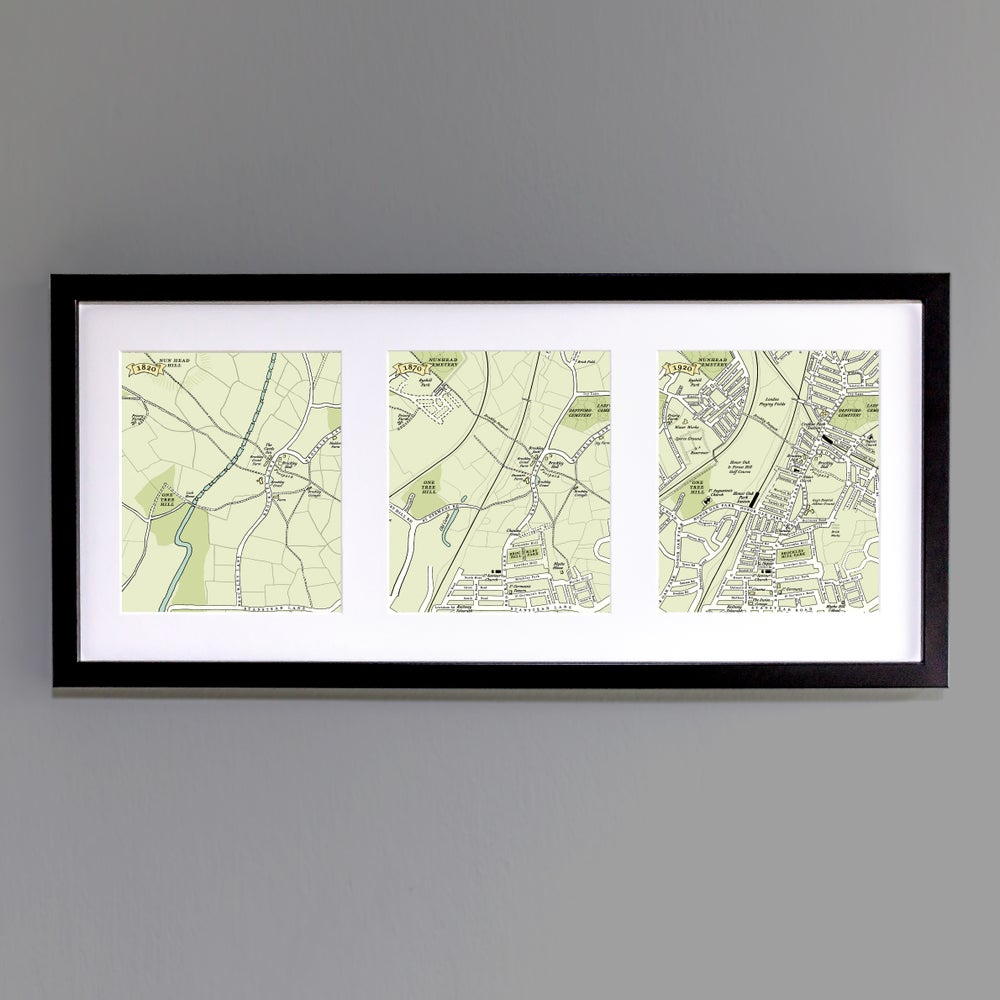 Image of One Hundred Years Map trio – Crofton Park & Honor Oak Park