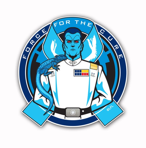 Image of *** PRE-ORDER***  Force For The Cures: Prostate Cancer Awareness Patch/Pin Set