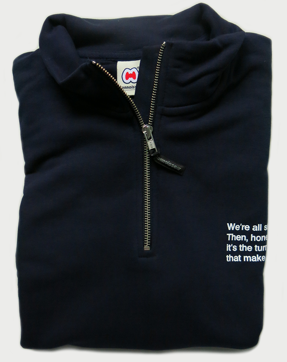 Image of 'TURNSTILES'  ¼ ZIP-UP SWEAT