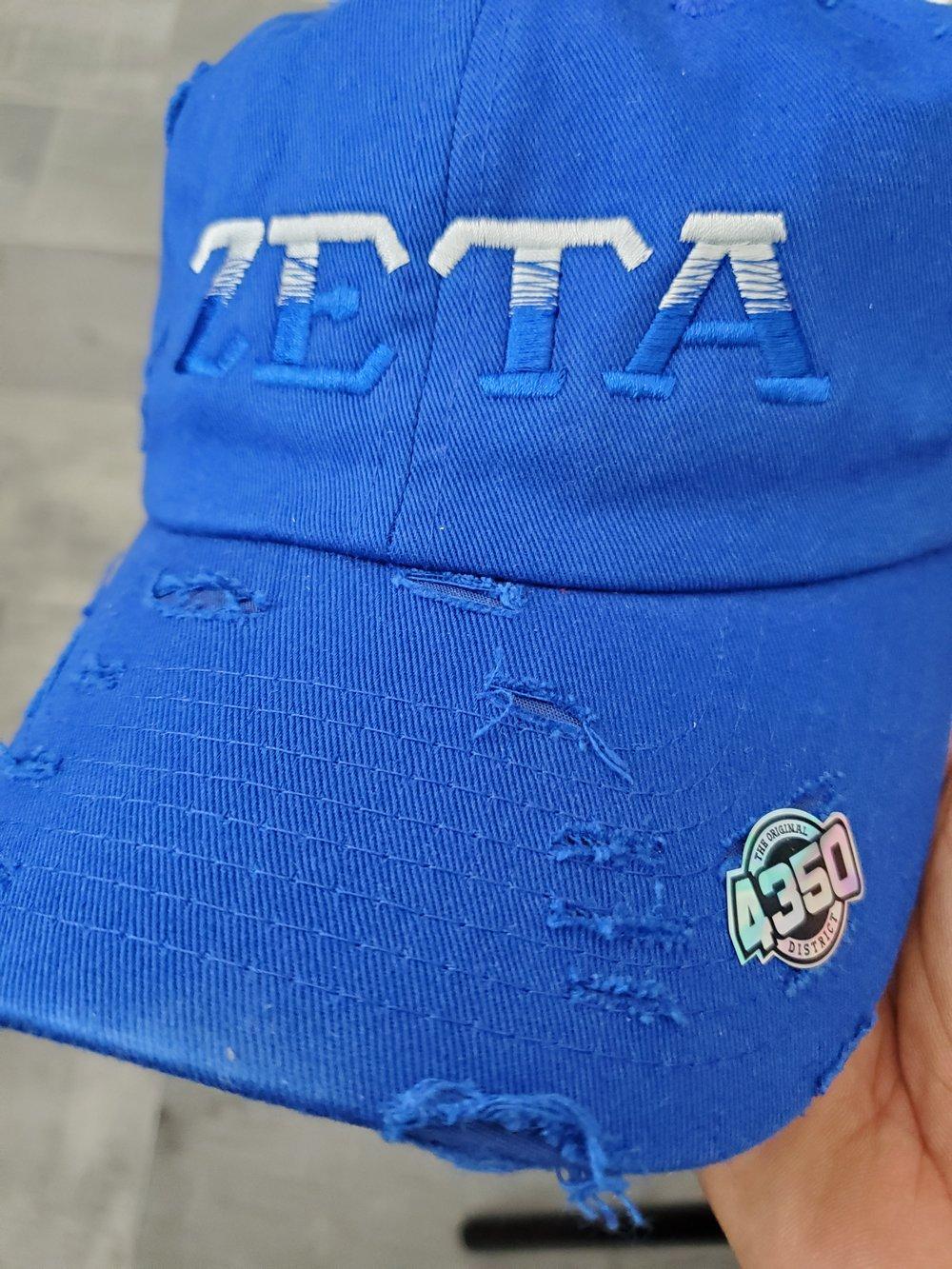 Distressed ZETA Gradient Caps
