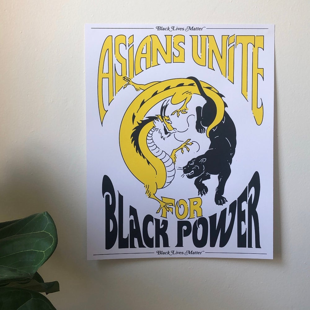 Image of Asians Unite for Black Power - screenprinted poster