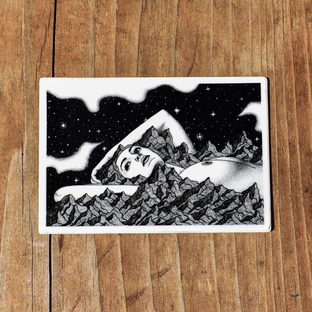 Image of Mt. Woman Sticker