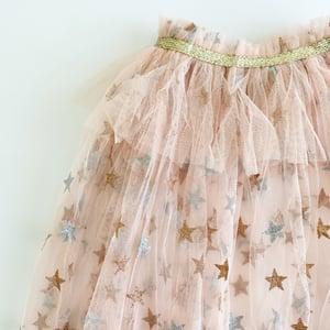 Image of Magic cape - blush with glitter stars and ruffle collar