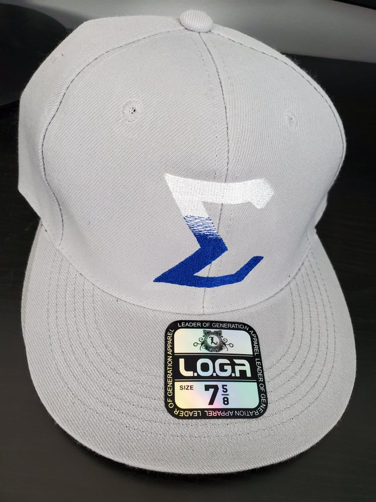 Image of Gray Fitted Baseball Cap with Sigma Gradient