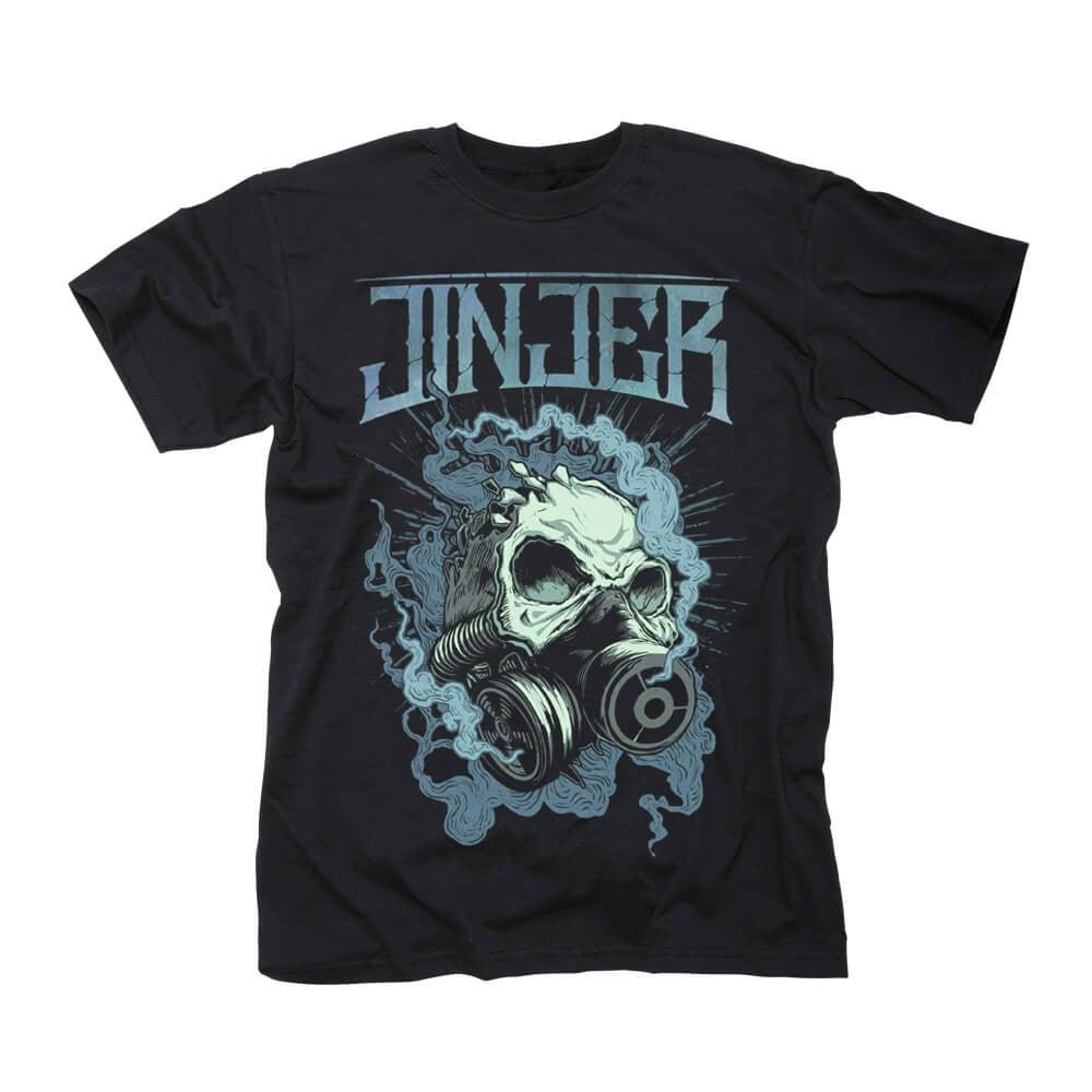 Image of T'SHIRT - Jinjer 'Gasmask Skull' design
