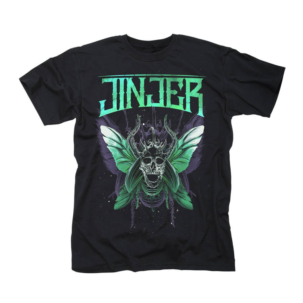 Image of T'SHIRT - Jinjer 'Butterfly Skull' design.