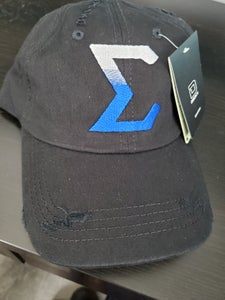 Image of Distressed Sigma Dad Cap with Gradient