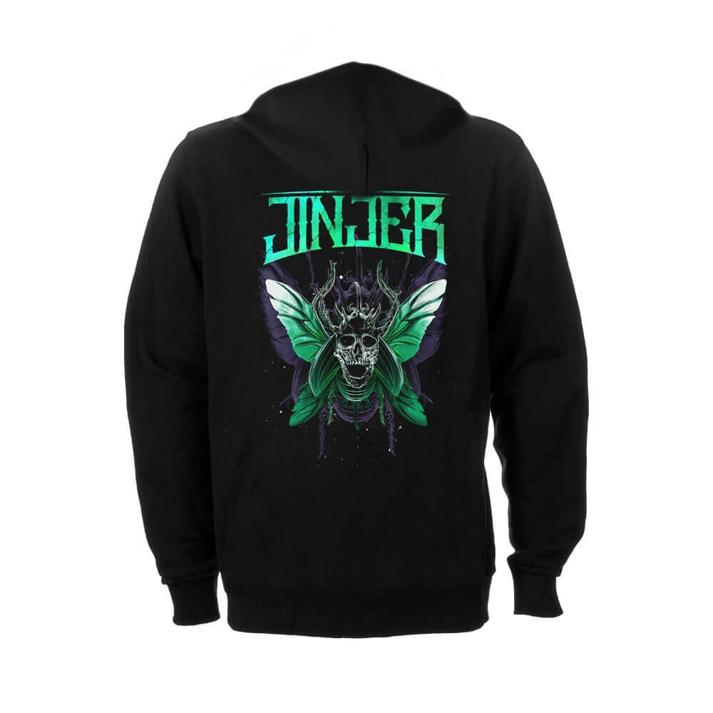 Image of HOODIE - Jinjer 'Butterfly Skull' design