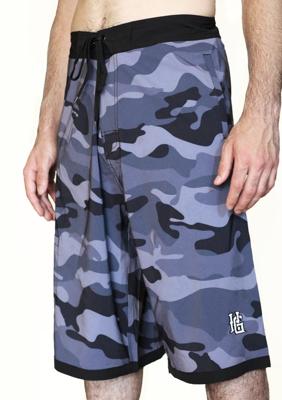 Image of New Navy City Camo 2020 Water Proof Big and Tall Board Short