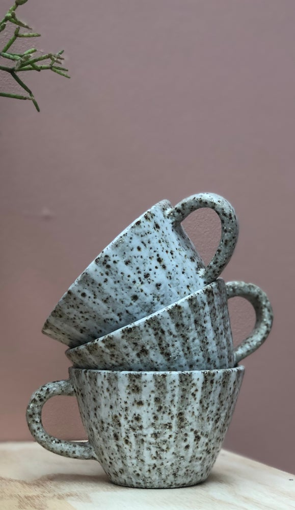 Image of Stripe flare teacups