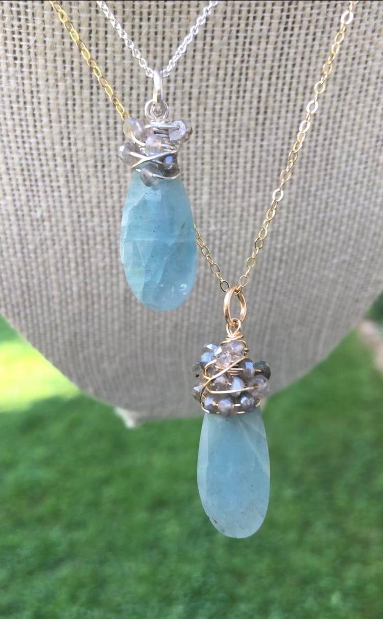 Image of Aquamarine Milkshake Necklace