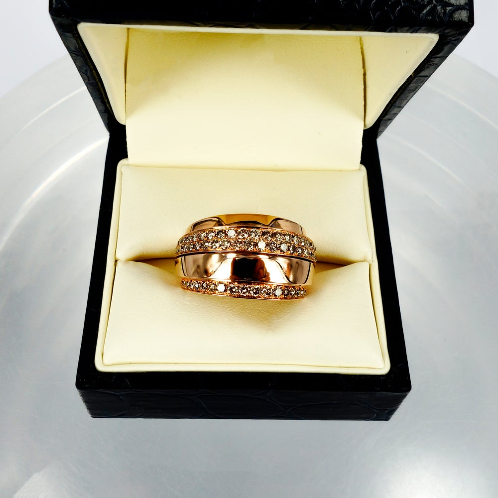 Image of Rose gold champagne diamond dress ring