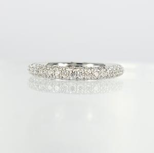 Image of White gold diamond pave ring