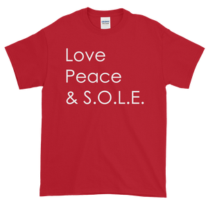 Image of Unisex Love Peace & S.O.L.E.  T-Shirt