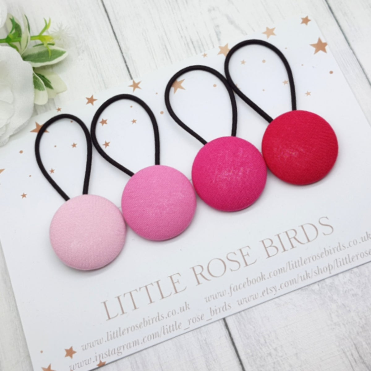 Image of Set of 4 Pinks Hair Bands