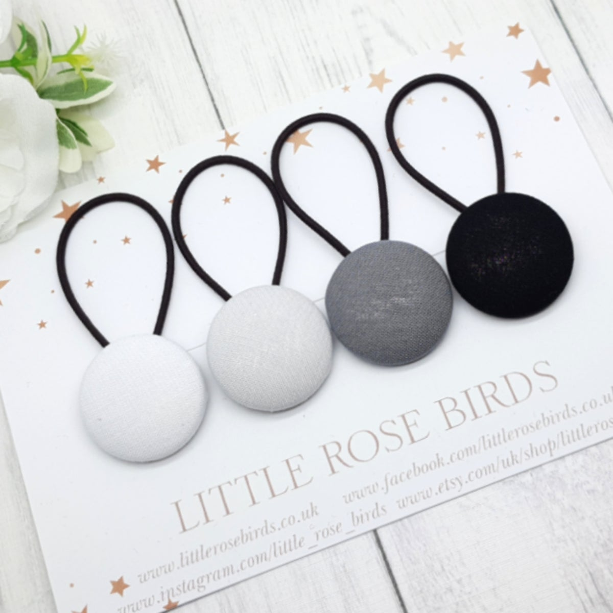 Image of Set of 4 Mono Hair Bands