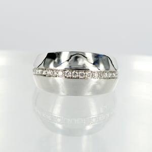 Image of 14ct white gold diamond dress ring
