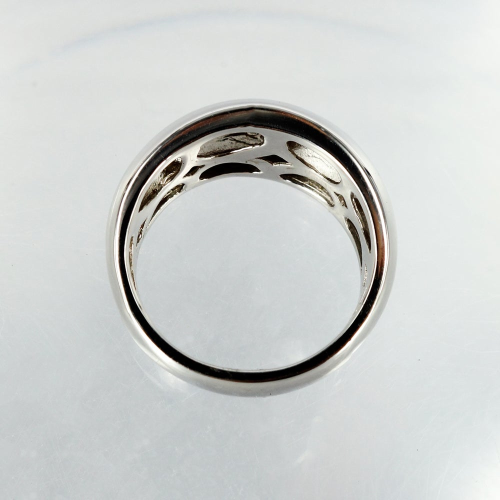 Image of 14ct white gold diamond dress ring
