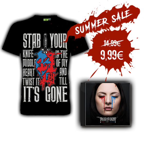 Image of SHIRT + EP BUNDLE  (RED AND BLUE)