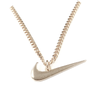 18' 14K Gold Plated Swoosh Necklace And Earrings Set (Pre-Order)