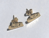 Nike Text Earrings - Studs