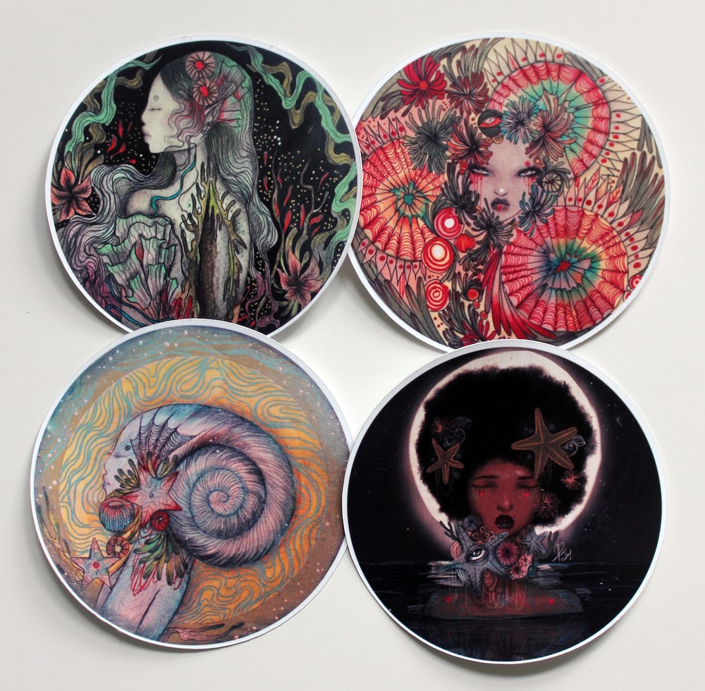 Image of Pack of 4 stickers