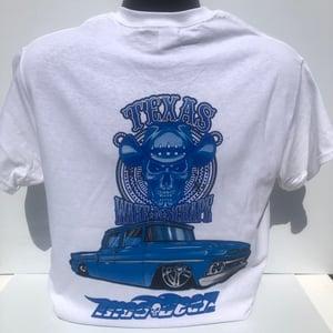 Image of WHITE T-Shirt Blue Truck
