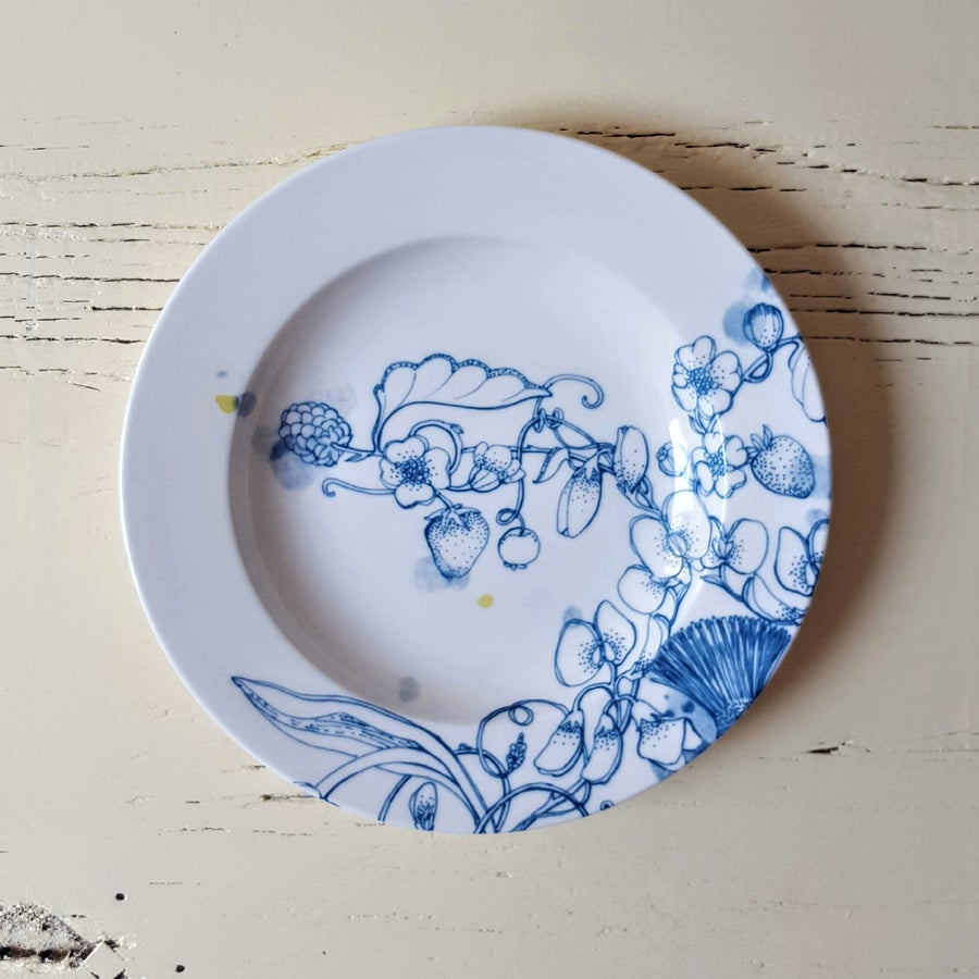 "Image of Blue Summer Chop Plate ""B"""